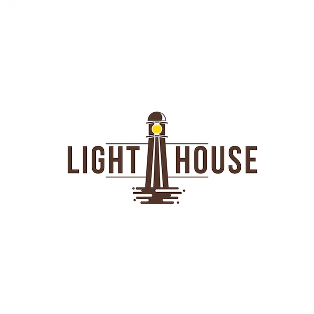 ライトハウスロゴ Premiumベクター