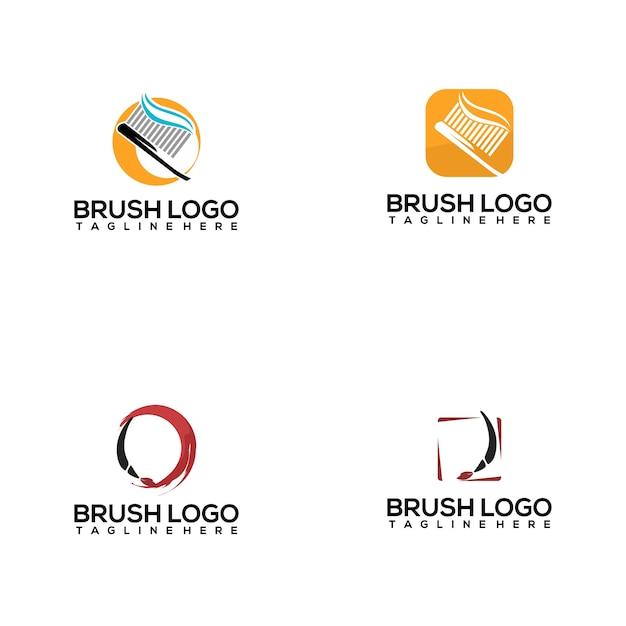 ブラシロゴコレクション Premiumベクター