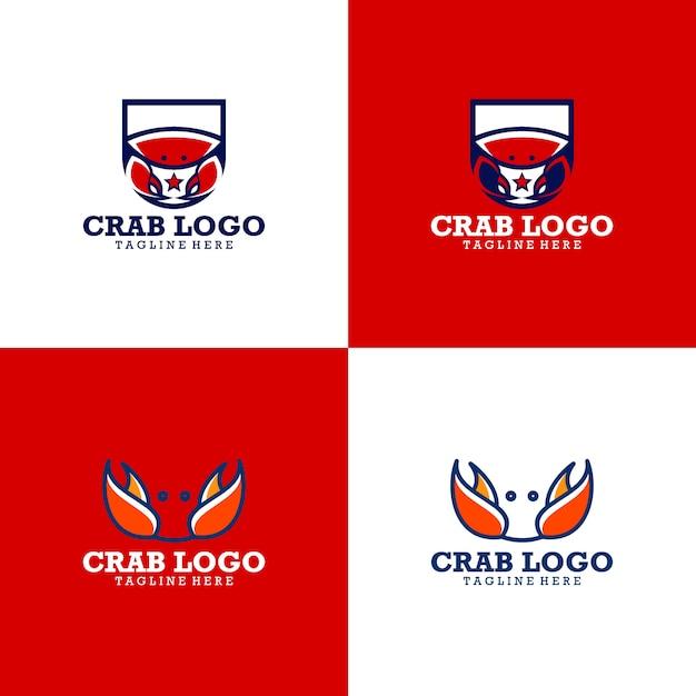 Краб логотип коллекция Premium векторы