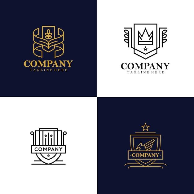 紋章ロゴコレクション Premiumベクター