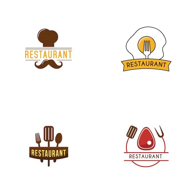 Шаблон логотипа ресторана Premium векторы
