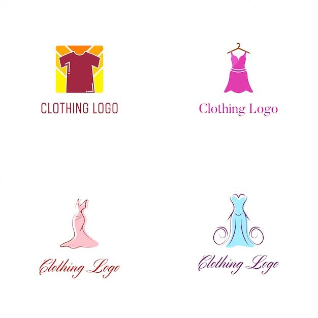 服のロゴのベクトルのデザインテンプレート Premiumベクター