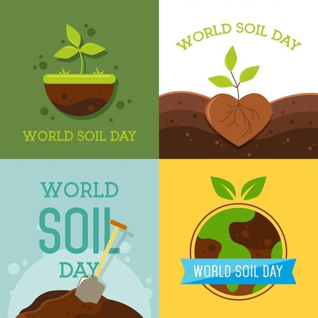 世界の土壌の日デザインベクトルイラスト Premiumベクター