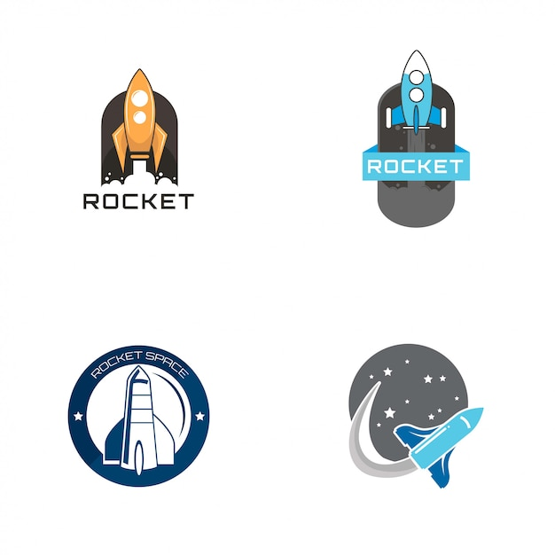 ロケットのロゴ Premiumベクター