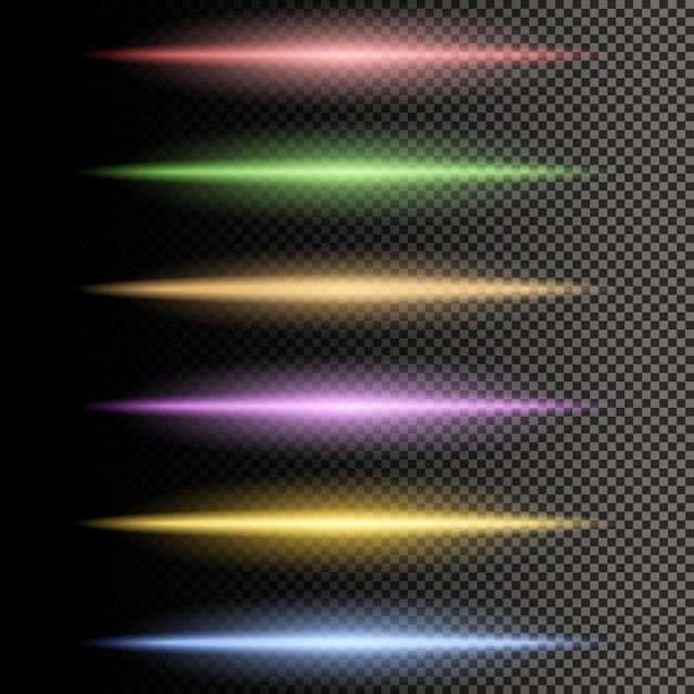 多色光輝く線のセパレータ Premiumベクター