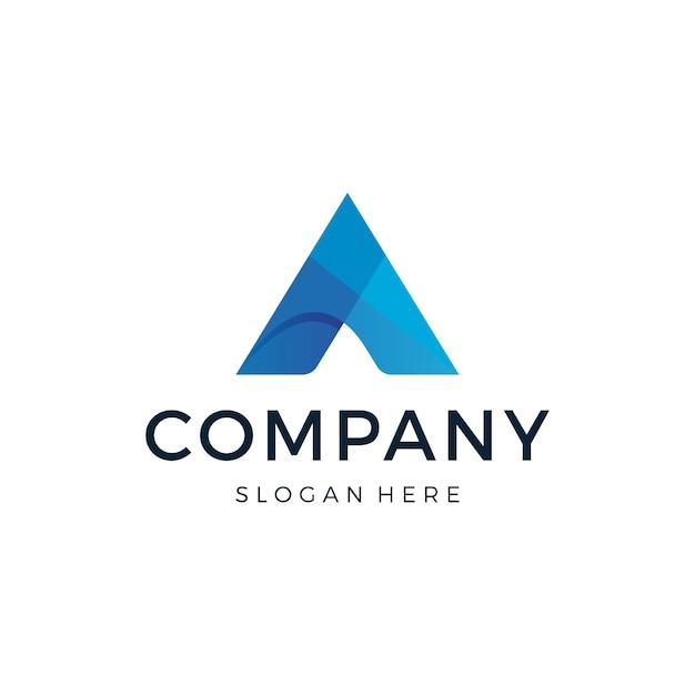 Буква а дизайн логотипа Premium векторы