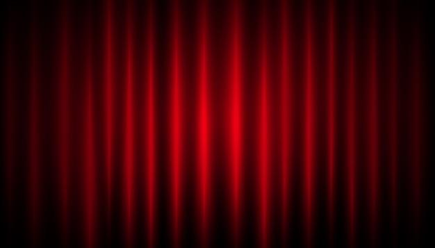 赤いカーテンの背景 Premiumベクター