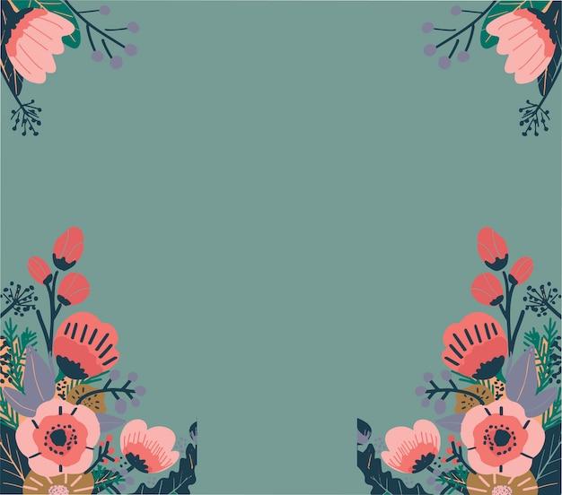 カラフルな抽象的な花柄。シームレスなベクトルの背景 Premiumベクター