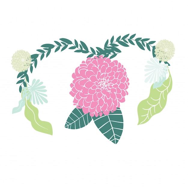 ピンクの背景に子宮健康概念を持つ女性 Premiumベクター