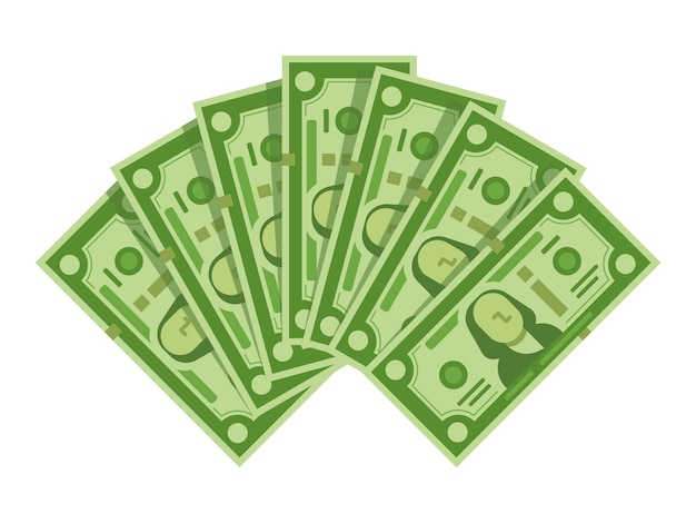 Вентилятор денег банкнот Premium векторы