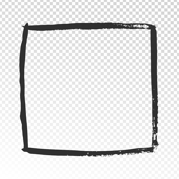 Гранж квадратная рамка Premium векторы