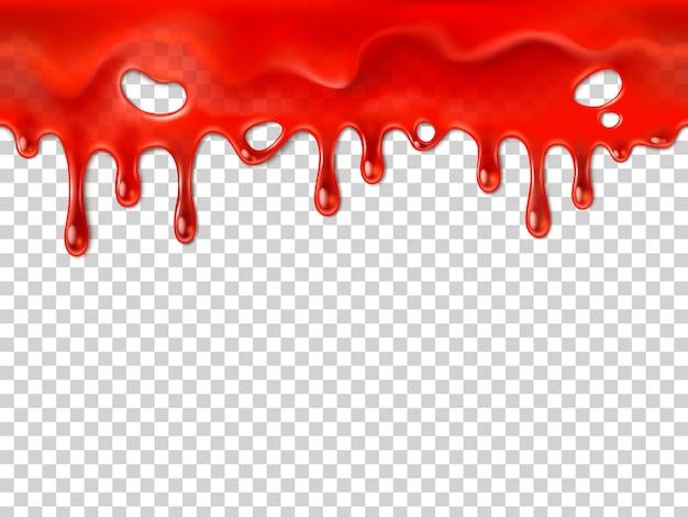 シームレスな滴る血 Premiumベクター