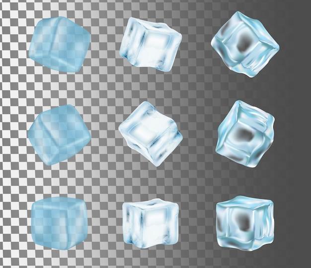 アイスキューブ分離ベクトル現実的なイラスト Premiumベクター