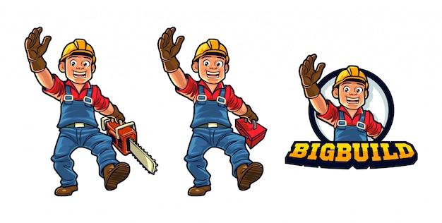 Логотип талисмана персонажа из мультфильма Premium векторы
