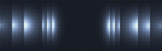 ダークブルーのカーボンファイバー素材のテクスチャ背景 Premiumベクター