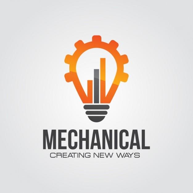 機械技術ロゴ 無料ベクター