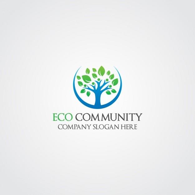 エコグループのロゴ 無料ベクター