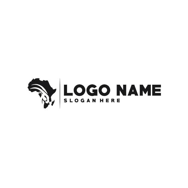 アフリカのロゴタイプテンプレート Premiumベクター
