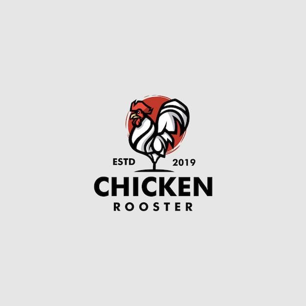 チキンのロゴのテンプレート Premiumベクター