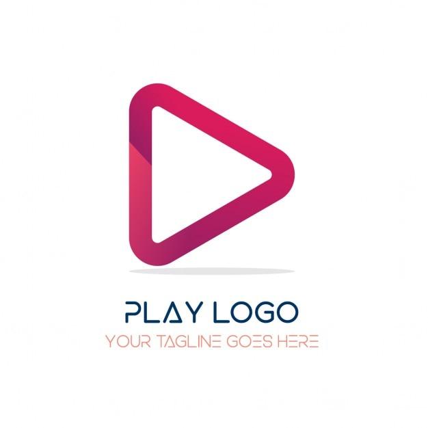 Красный логотип, игра Бесплатные векторы