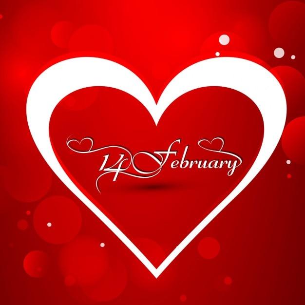 Блестящий красный фон любовь Бесплатные векторы