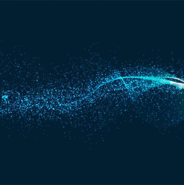 抽象的な光沢のある輝きの青い背景 無料ベクター