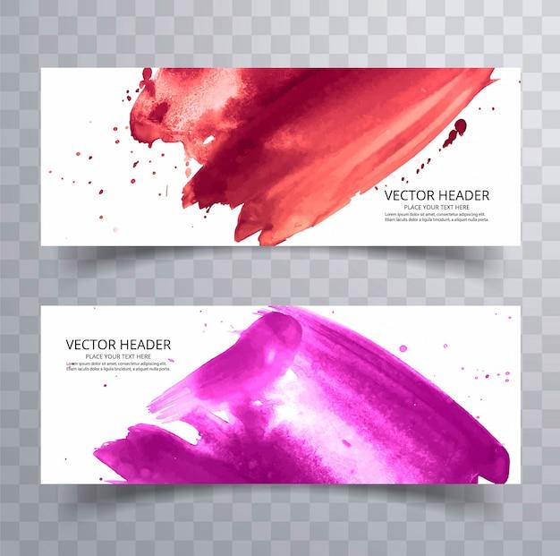 抽象的な手描きのカラフルな水彩画 Premiumベクター