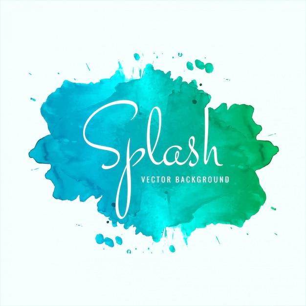 美しい水彩スプラッシュデザインベクトル 無料ベクター