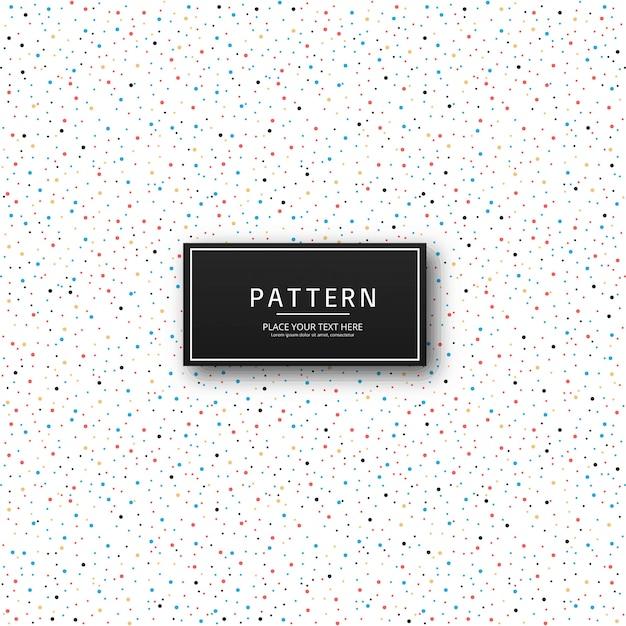 美しいカラフルなドットパターンのデザインベクトル 無料ベクター