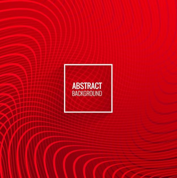 近代的な赤い線の幾何学的な波の背景 無料ベクター