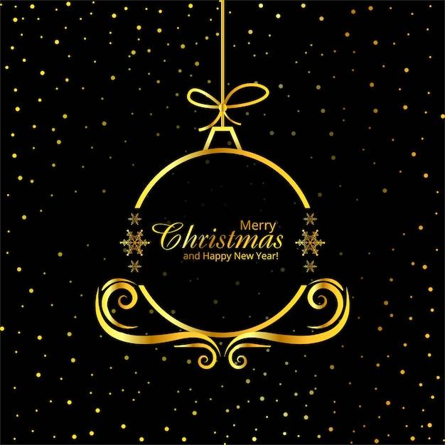 メリークリスマス装飾ボールの背景ベクトル 無料ベクター