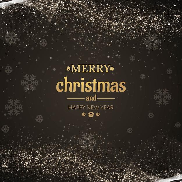 美しい輝きメリークリスマスカードデザイン 無料ベクター