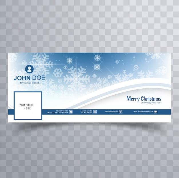 Счастливого рождества блестящий снежинка баннер Premium векторы