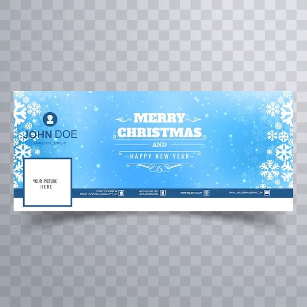 Счастливого рождества блестящий снежинка красочный баннер Premium векторы
