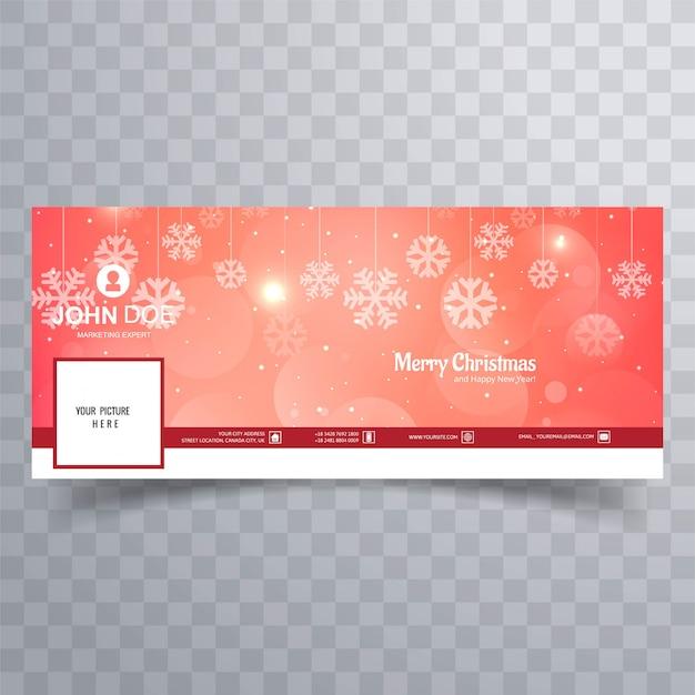 Счастливый рождественские блестящий снежинка баннер шаблон фон Premium векторы