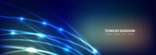 Абстрактный фон баннера технологии Бесплатные векторы