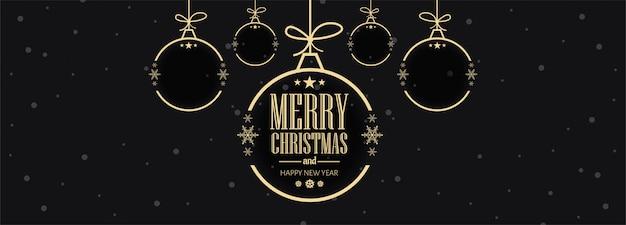 Рождественские праздники карты баннер шаблон векторные иллюстрации Бесплатные векторы
