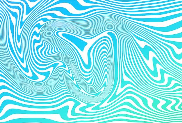 ジグザグ斜めの青い線波背景 無料ベクター