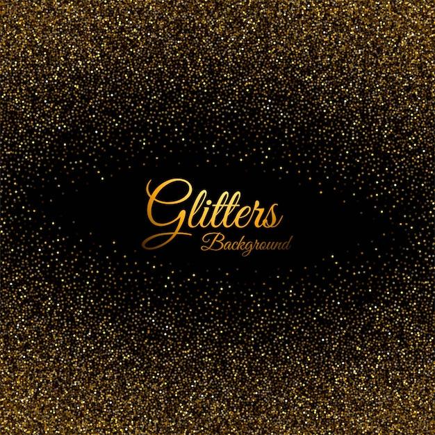 Абстрактный золотой блестящий фон текстура пыли Бесплатные векторы