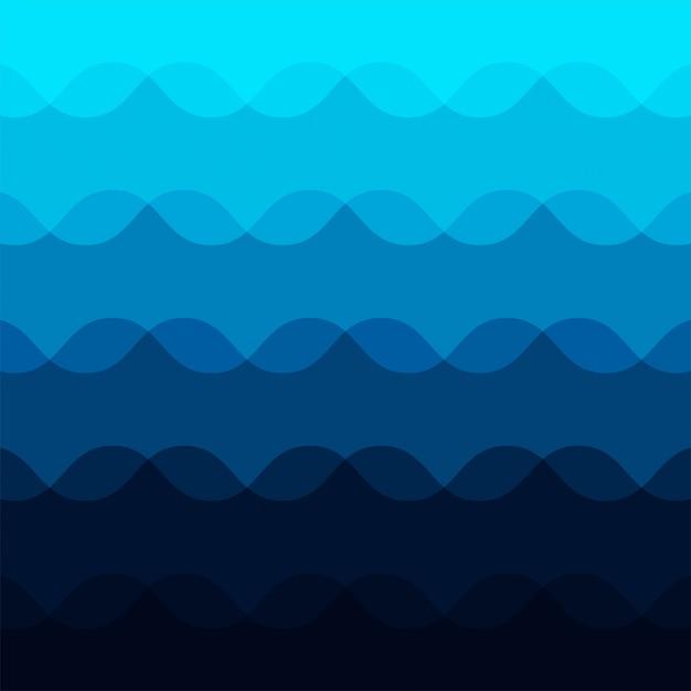 抽象的な青い波パターン背景 無料ベクター