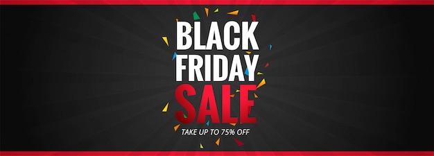 Черная пятница продажа рекламный плакат или баннер шаблон Бесплатные векторы