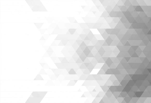 抽象的な白い三角形の背景 無料ベクター