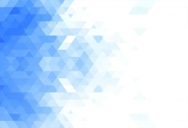 抽象的なブルーの幾何学図形の背景 無料ベクター