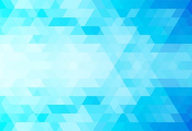 抽象的な青い三角形の背景 無料ベクター