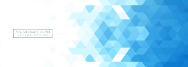 抽象的なブルーの幾何学的なバナー 無料ベクター