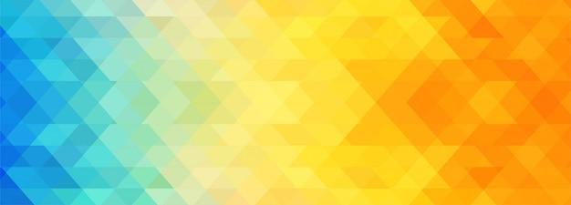 抽象的なカラフルな幾何学的なバナーテンプレート 無料ベクター