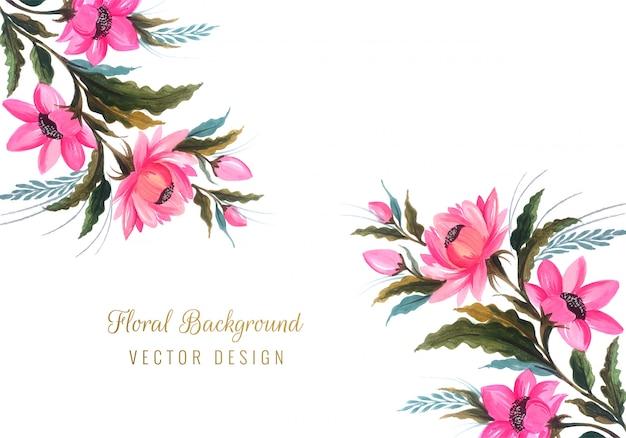Красивый букет свадебных цветочных фонов Бесплатные векторы