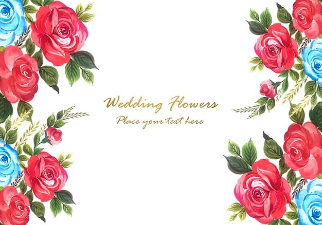 Красивая годовщина свадьбы декоративная цветочная рамка вектор Бесплатные векторы