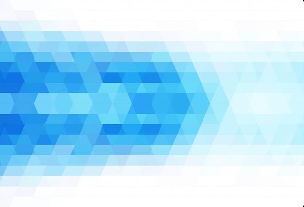 抽象的な三角形の青い背景のベクトル 無料ベクター