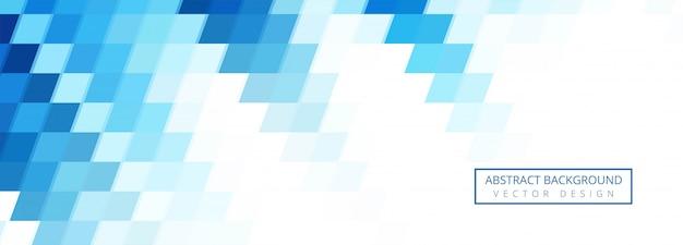 抽象的なブルーの幾何学図形の背景デザイン 無料ベクター